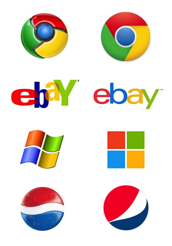 flat vs real logo design